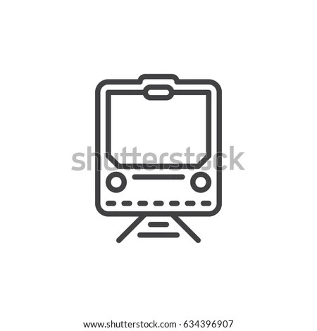 Steam Train Line Icon Filled Outline Stock Vector
