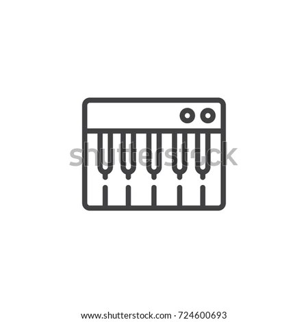 Keyboard Mouse Icon Vector Solid Logo Stock Vector