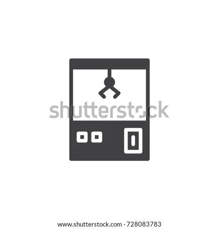 Manual Press Machine Line Icon Outline Stock Vector