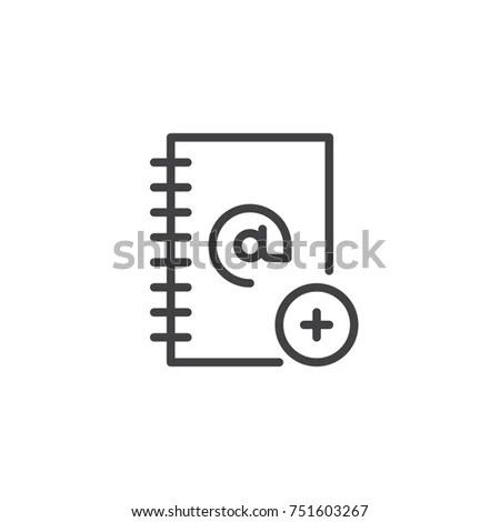 Checkbook Pen Line Icon Outline Vector Stock Vector