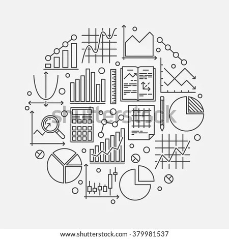 Statistics Round Illustration Vector Symbol Data Stock