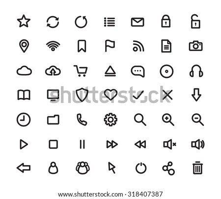 General Icons Set 3 Line Icon Stock Vector 264354005