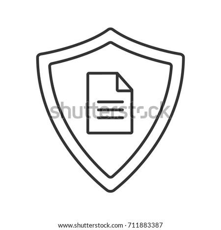 Shield Icon Drop Shadow Silhouette Symbol Stock