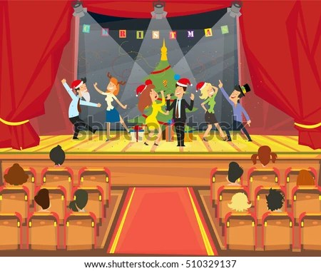 Funny Business People Dancing Party Office Stock Vector