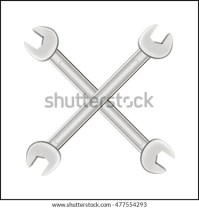 Plumbers Valentine Illustration Crossed Pipe Wrenches ...