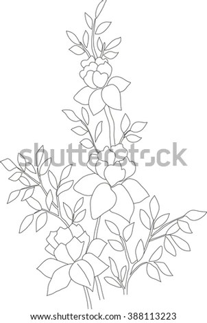 Vector Floral Pattern Bluebells Stock Vector 44640490