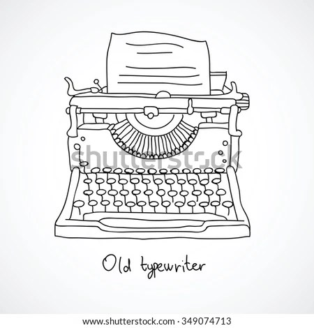 Typewriter Paper Sheet Vector Stock Vector 548191144