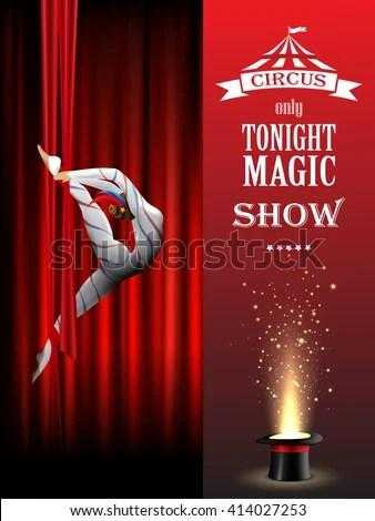 Magic Show Poster Design Template Magic Stock Vector