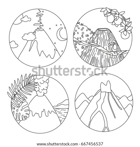Set Black White Sea Shells Vector Stock Vector 121436512