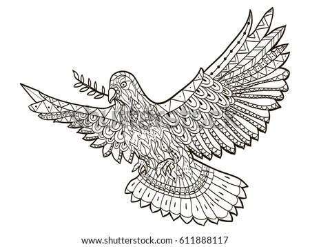 Bald American Eagle Swooping Side Claws Stock Illustration