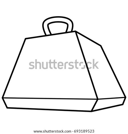 Pyramid Carrying Box Die Line Template Stock Vector