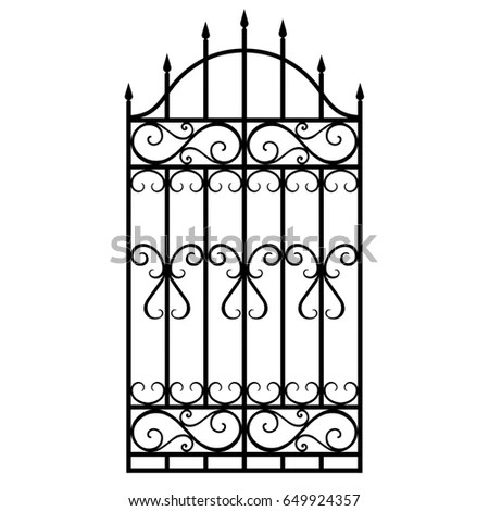 Vector Illustration Wrought Iron Modular Railing Stock