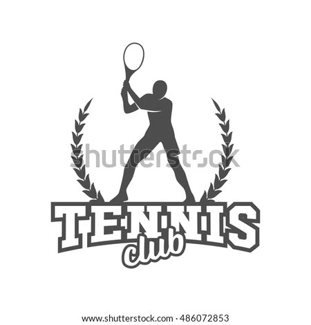 Tennis Badge Logo Templatesport Tshirt Graphics Stock