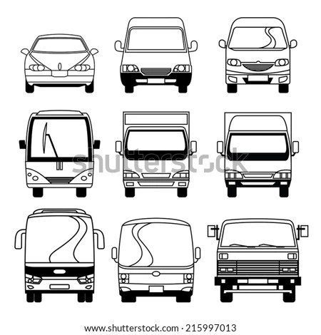 Car Sedan Suv Drawing Outline Stock Vector 485151430