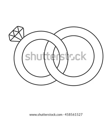 Sketchy Illustration Wedding Rings Stock Vector 71216749