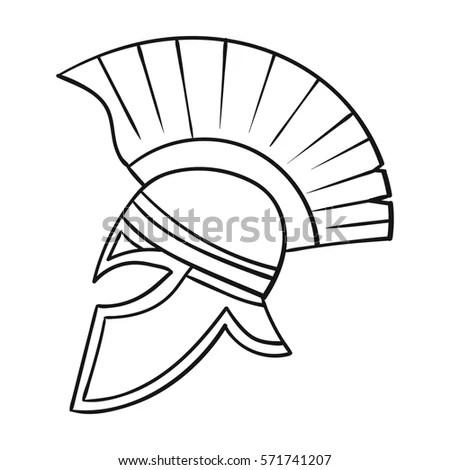 Roman Soldiers Helmet Icon Cartoon Style Stock
