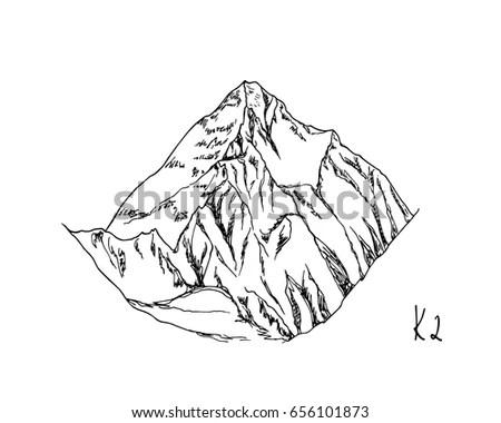 Sketch Iceberg Vector Illustration Stock Vector 296453783