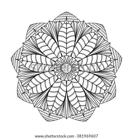 Gothic Rosette Window Pattern Vector Black Vectores En