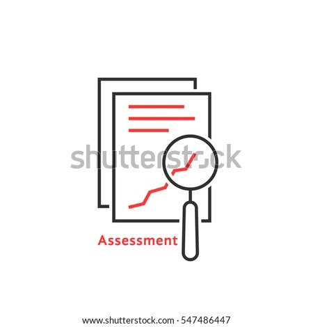 Black Linear Document Like Auditing Concept Stock Vector