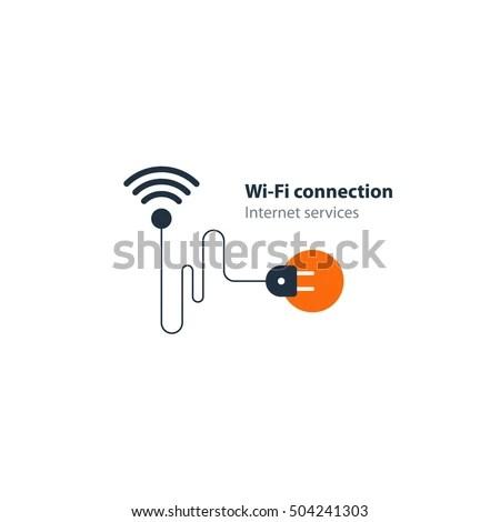Wireless Door Lock Vector Icon Smart Stock Vector