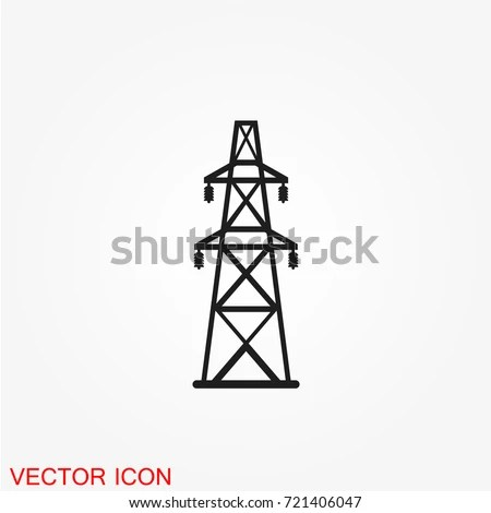 Electricity Icon Suitable Info Graphics Websites Stock