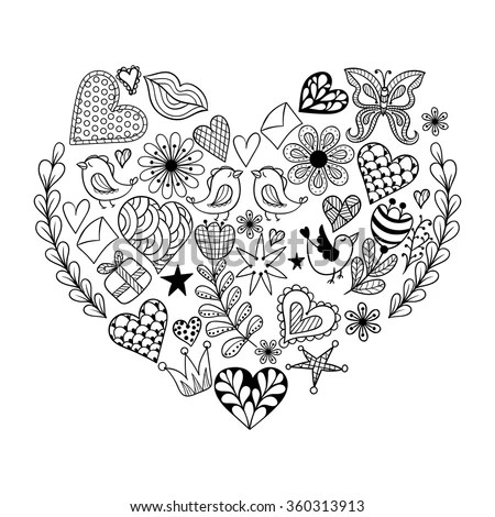Hand Drawn Human Heart Sketch Anatomical Stock Vector