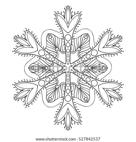 Coloring Page Outline Christmas Decoration Star Stock