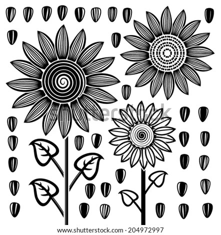 Vector Sunflower Plant Growth Stages Concept Stock Vector