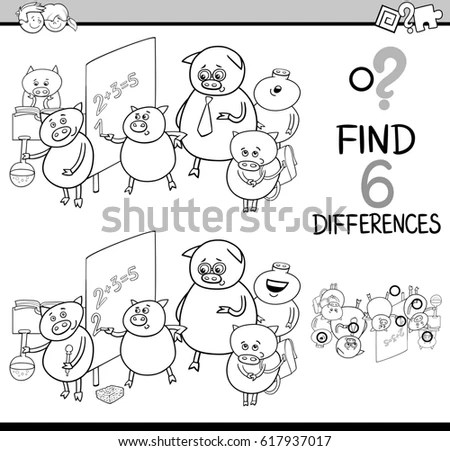 Coloring Book Page Cartoon Vector Illustration Stock