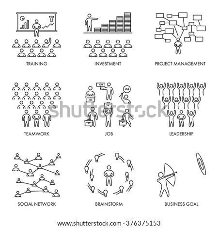 Sketch Business Organization Management Process People