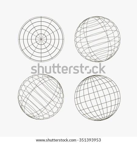 Illustration Original Globe Elementsspheres Stock Vector