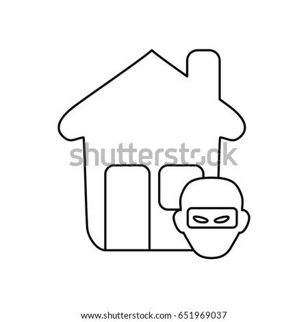 Plug Wire Shape House Symbol Realty Stock Vector 288906191