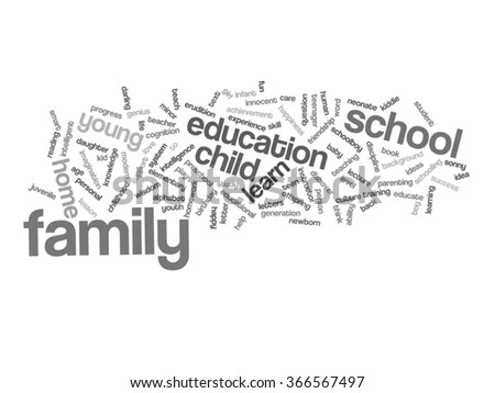 Concept Conceptual Education Abstract Word Cloud Stock
