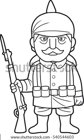 Coloring Page Cartoon Farmer Pitchfork Pig Stock Vector