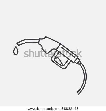 Gas Pump Outline, Gas, Free Engine Image For User Manual