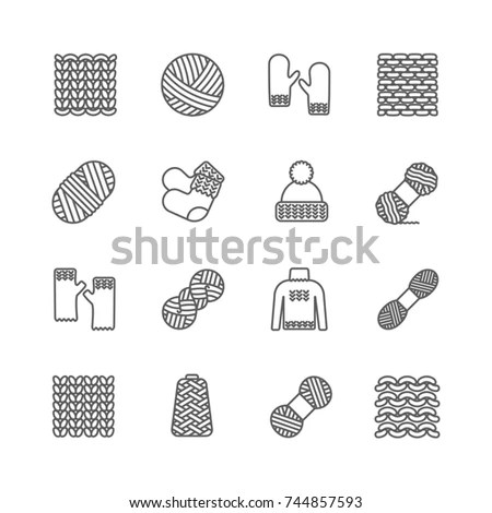 Knitting Vector Pattern Knitted Realistic Seamless Stock