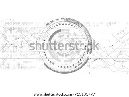 Vector Abstract Futuristic Eyeball On Circuit Stock Vector