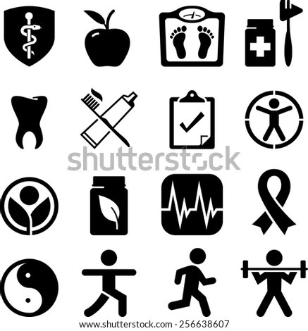 Diet Fitness Icons Setvector Stock Vector 289121315