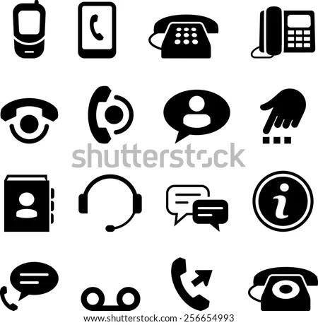 Contact Icons Set Set 16 Contact Stock Vector 590333111