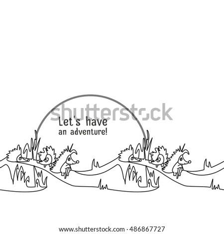 Dragon Boat Race Team Vector Illustration Stock Vector