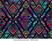 Geometric Ethnic Pattern Design Background Wallpaper Stock