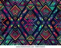 Geometric Ethnic Pattern Design Background Wallpaper Stock ...