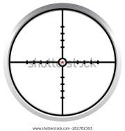crosshair reticle stock vector