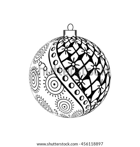 Christmas Ball Snowflake Cut Out Paper Stock Vector