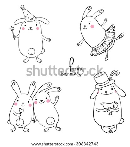 Illustration Funny Sheeps Arabic Islamic Calligraphy Stock