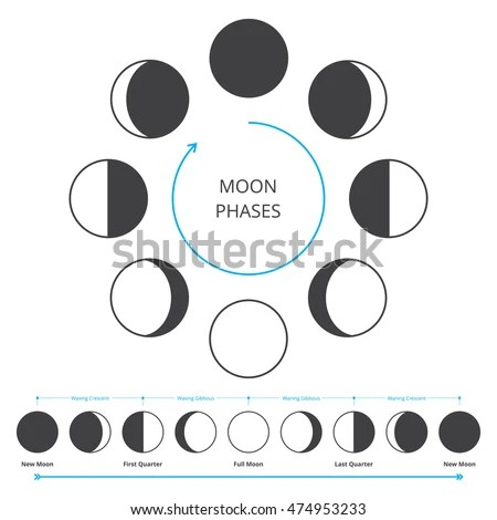 Moon Phases Diagram Third Quarter Moon Diagram Wiring