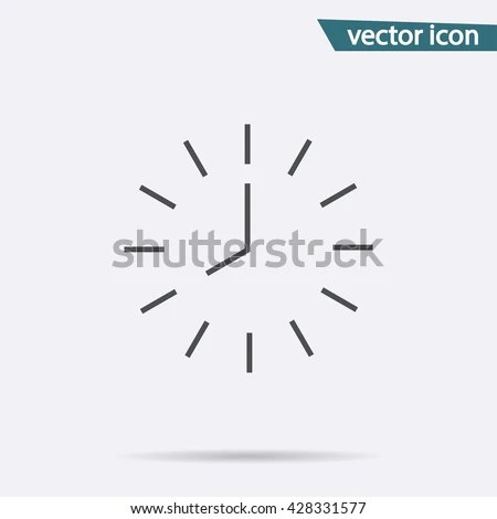 Clock Icon Save Time Vector Isolated Stock Vector