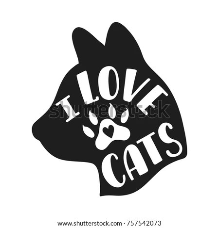 Download Love Cats Handwritten Inspirational Quote About Stock ...