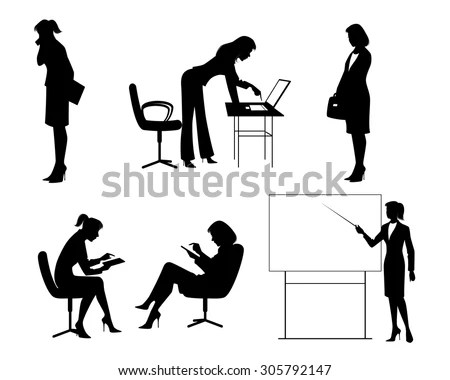 Office Chair Yoga Corporate Workout Vector Stock Vector