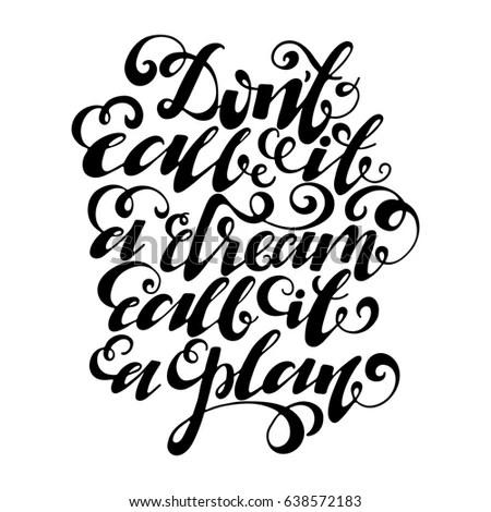 Black White Hand Lettering Alphabet Design Stock Vector